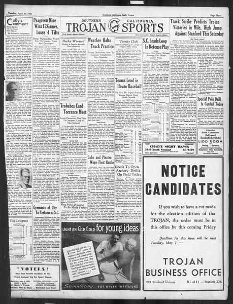 Daily Trojan, Vol. 26, No. 127, April 30, 1935