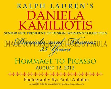 DANIELA KAMILIOTIS ~ Daniela & Thamos 25 Years ~ Hommage To Picasso ~ Bethel, CT ~ August 12, 2012
