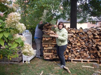 Wood splitting party