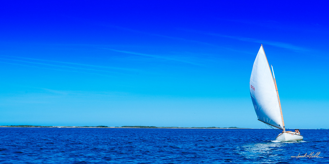 Sailing on a perfect day In Nantucket Harbor