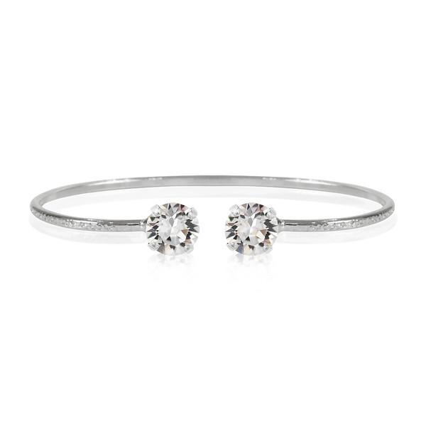 Petite Stud Bracelet / Crystal Rhodium