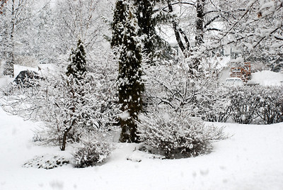 2013 04 22: Falling Snow, Duluth MN US