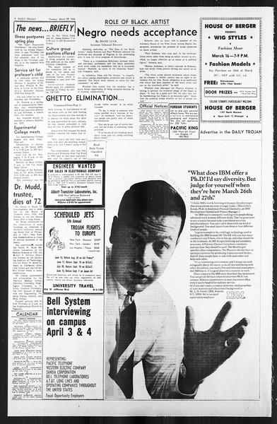 Daily Trojan, Vol. 59, No. 88, March 12, 1968