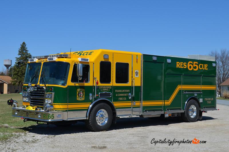 Franklintown (Franklin Township) Rescue 65: 2014 KME Predator 1750/750/20A