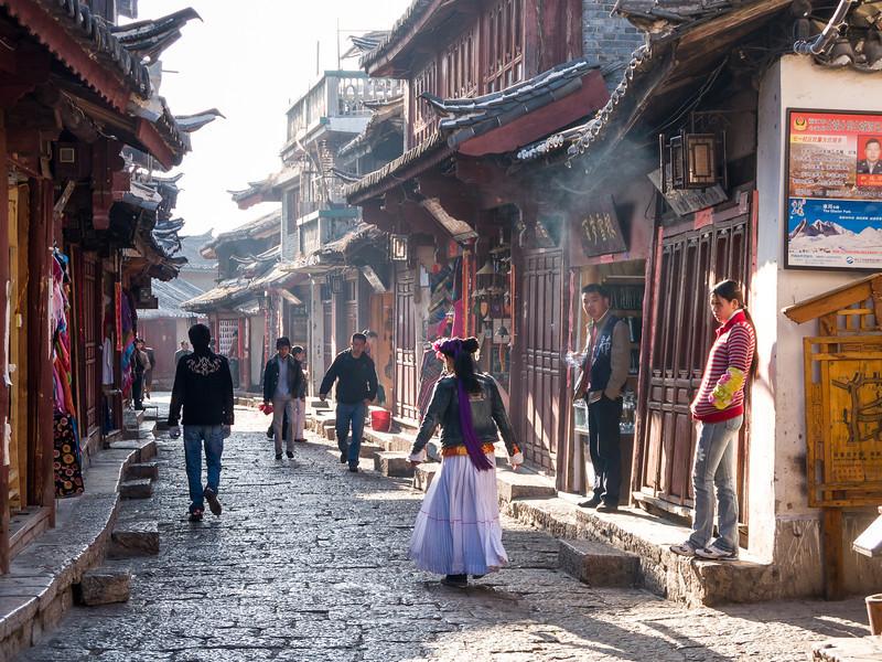 Morning sun, Lijiang, China, March 2008