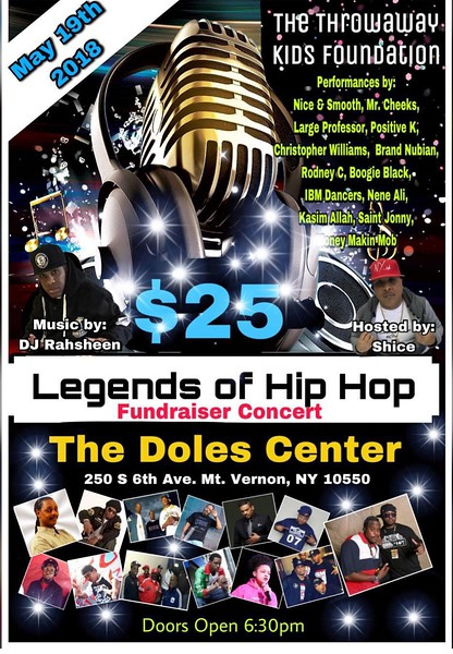 LEGENDS OF HIP HOP FUNDRAISER CONCERT