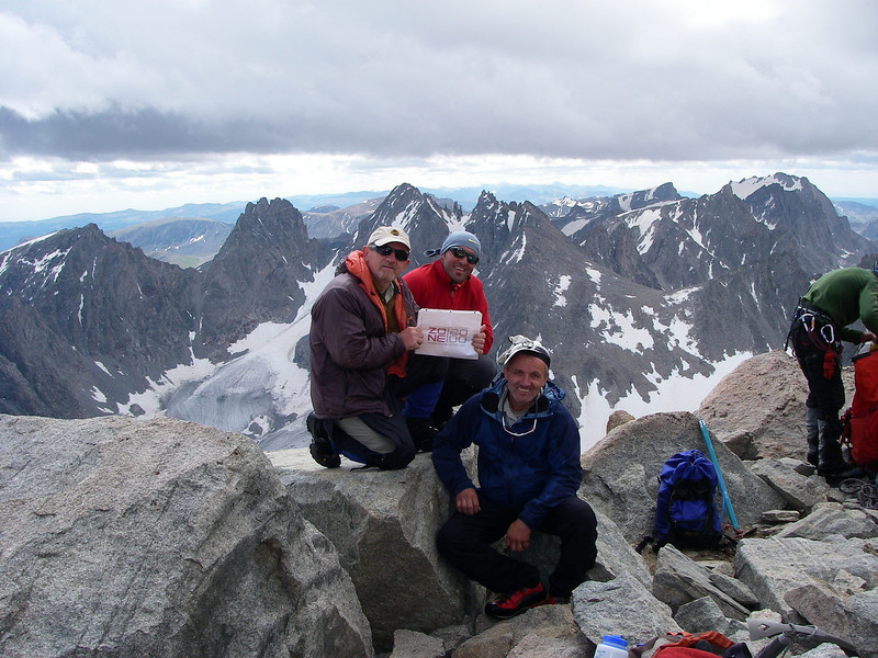... and we are at Gannett Peak - 13,804ft (4,208m): August 9th, 2010 at about noon.