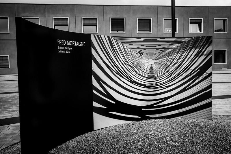 Outside Leica's Leitz Park headquarters. Wetzlar, Germany