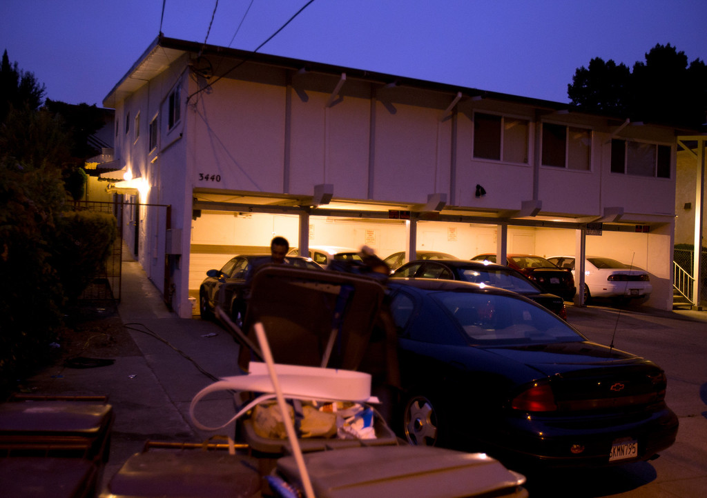 . The scene of a homicide in the 3400 block of Wilson Avenue in Oakland, Calif., Thursday, July 18, 2013. An 8-year-old girl was killed when an unknown assailant came to the door of an apartment around 11:15 p.m. Wednesday night and fired multiple shots. Three other people were injured. (D. Ross Cameron/Bay Area News Group)