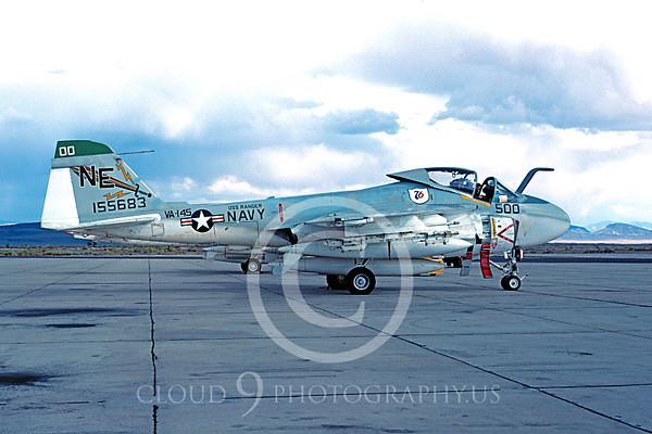 U.S. Navy A-6 Intruder Airplanes in Bicentennial Color Scheme