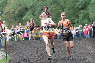 Boys D2 at 1 mile mark - 2014 Nike Holly Duane Raffin Cross Country Invite