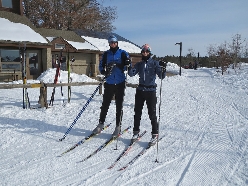 The ring leaders Matt and Jennifer. Thanks for another great ski. William O'Brien State Park.