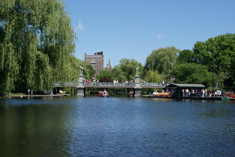 Lagoon Bridge: This bridge, which spans the lagoon in Boston's Public Garden, holds the world record as the smallest suspension bridge.
