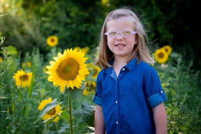 Hailey and Sunflowers