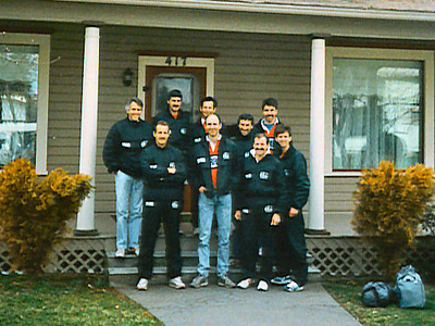 Lewis & Clark Relay - 1989 - In front of one of the houses where they overnighted