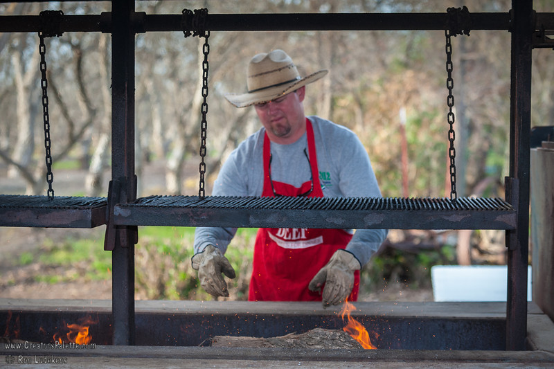 Hours before the event, Ryan is preparing to cook the food.  Ryan - always appreciate your sacrifice and great BBQ skills!