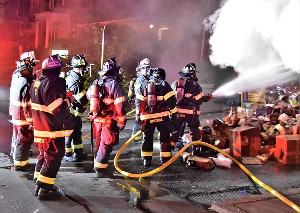 Hazleton City 139 box truck fire Church @ Oak 8-30-18