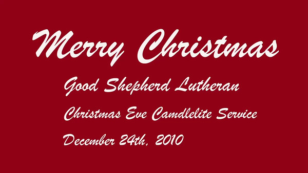 Good Shepherd Christmas Eve 2010