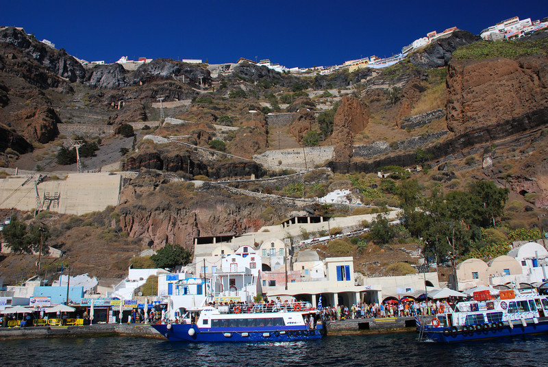 The Harbour at Thira on Santorini