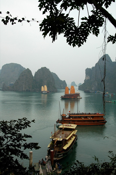 Boats and Crags - Halong Bay, Vietnam