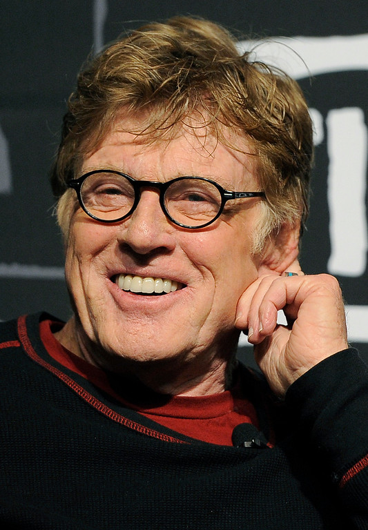 . Robert Redford, founder and president of the Sundance Institute, smiles during the opening news conference of the 2013 Sundance Film Festival, Thursday, Jan. 17, 2013, in Park City, Utah. (Photo by Chris Pizzello/Invision/AP)