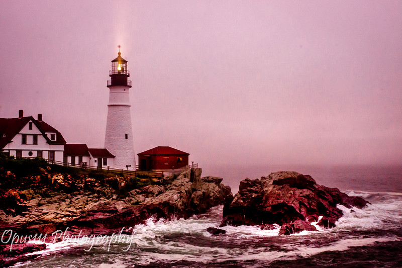 1- Cape Elizabeth Lighthouse, Foggy Morning, Maine.JPG
