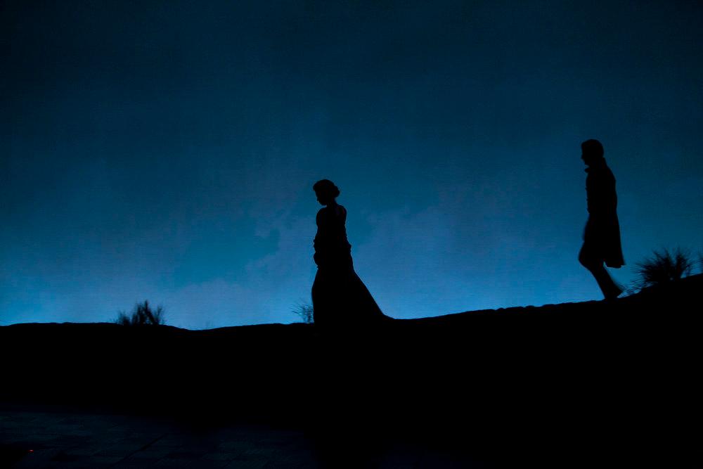 ". Nick Verina as Mr. Edward Ferrars and Stephanie Rothenberg as Miss Elinor Dashwood in the world premiere of \""Sense & Sensibility The Musical.\""   Photo by Jennifer M. Koskinen"