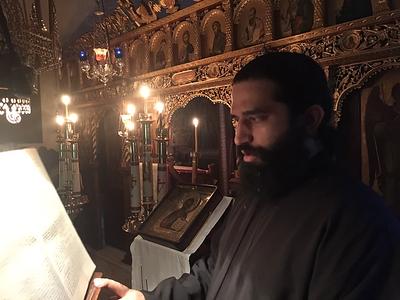 25/12/2018 Λειτουργία στο Μετόχι της Μονής στο Χαλάνδρι