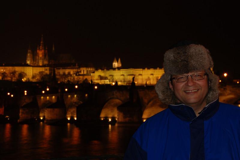 Tony Near the Water at Night in Prague 3.JPG