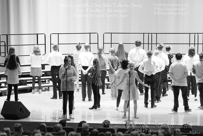 All-district Choir Festival, 5th through 12th grade, 2018 February 09, Northfield Middle School, Northfield, Minnesota  USA.