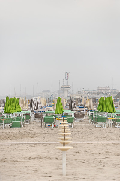 Empty Beach - Milano Marittima, Cervia, Ravenna, Italy - April 26, 2019
