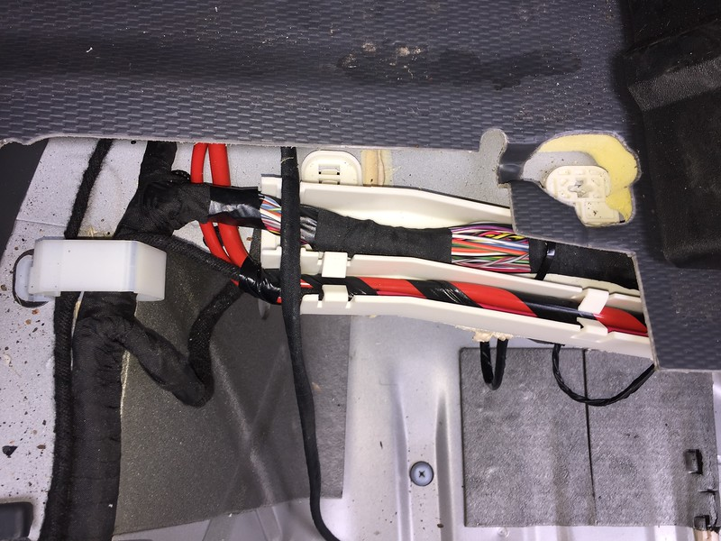wires to under seat