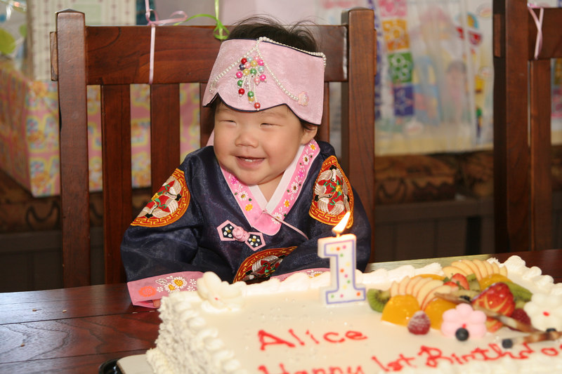 Alice's first birthday
