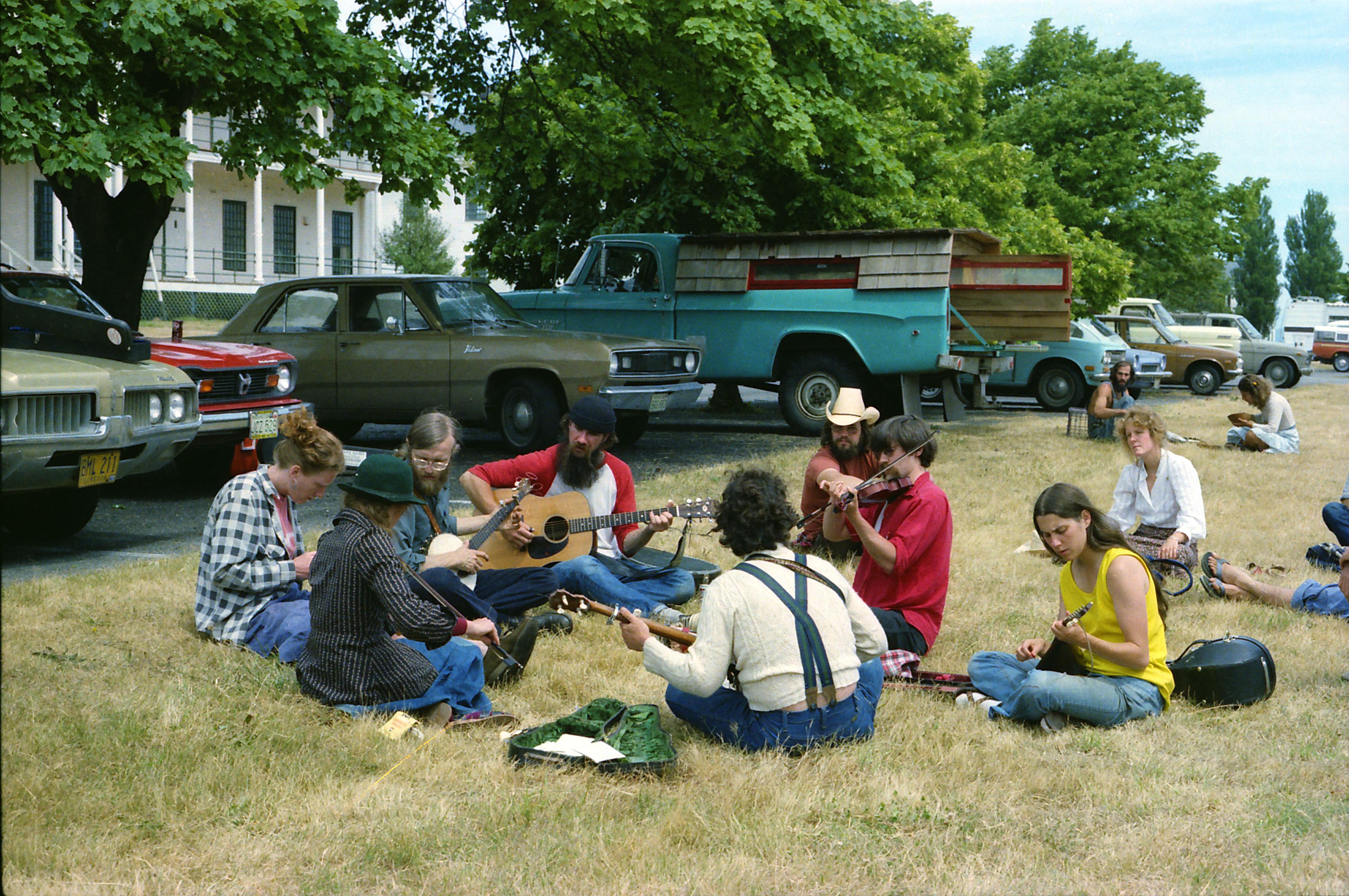 Outside jam session