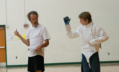 Daniel and Merrick day 5 fencing class July 11, 2014