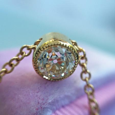 .65ct  Old European Cut Diamond Pendant, GIA K VS2