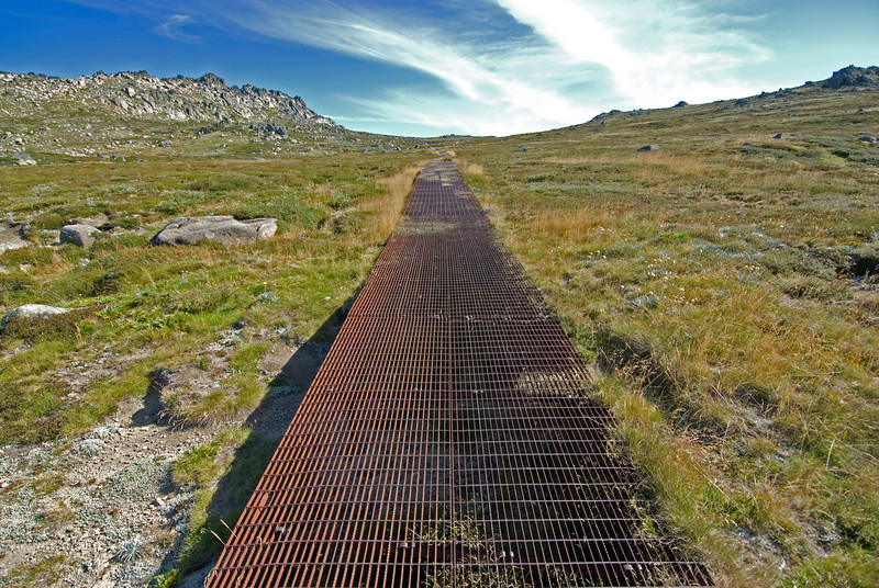 Path to Summit of Mount Kosciusko - NSW, Australia