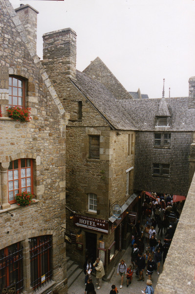 Walking the streets of Mont St. Michel