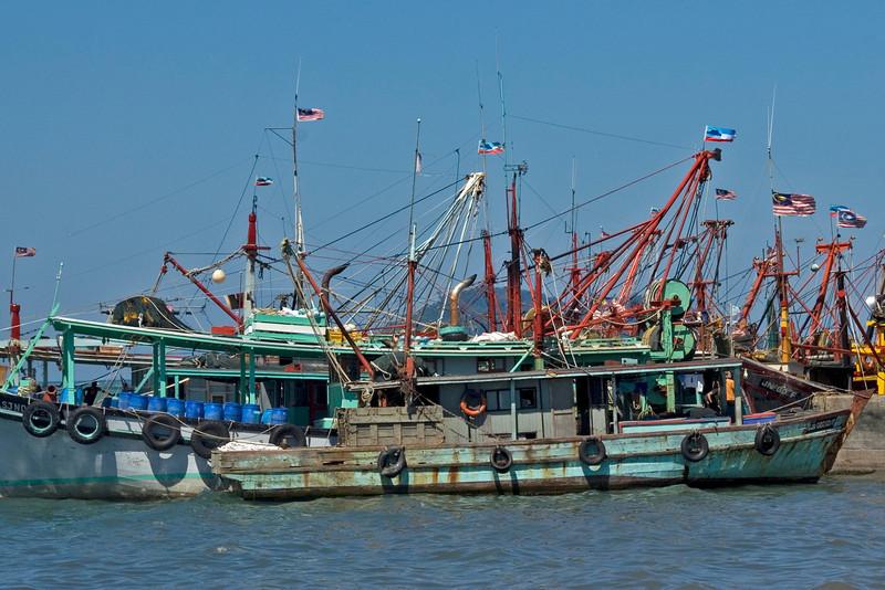 Boats on dock at Kota Kinabalu - Sabah, Malaysia