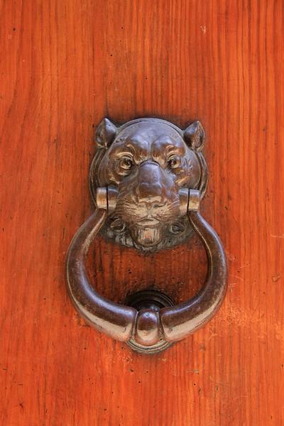 Stylish door knocker, Siena, Italy.