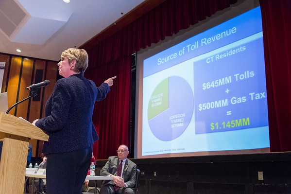 03/25/19 Wesley Bunnell | Staff CT Republicans held a conference on Monday evening at Bristol Central High School to discuss the highway toll proposals as well as alternative options. State Rep. Laura Devlin discusses the states proposals.