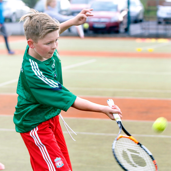 New coaching sessions at Tullamore Tennis Club with coach Bryan Stewart  Junior Action Picture: Niall O'Mara  04th September 2018