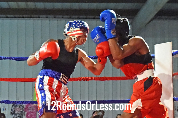 Bout 12 Chris Lopez, Freddies BC -vs- Denari Brown, EB Turner Rec Center, 141 lbs, Novice