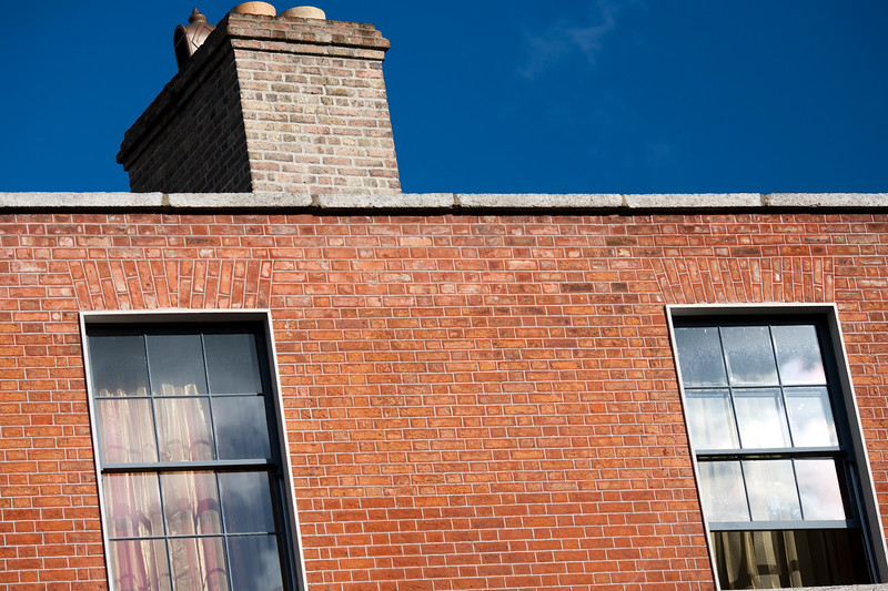 Typical red brick house, Pearse street, Dublin, Ireland