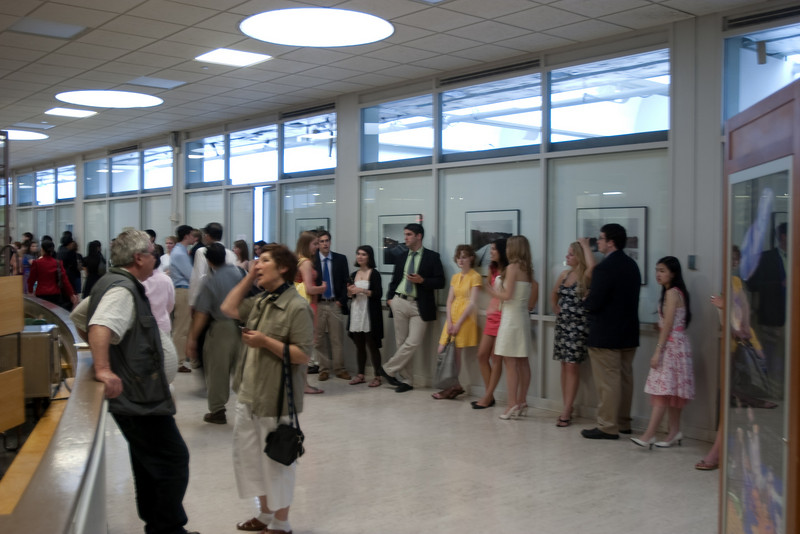 Day 3 - At the Hop, participants in another activity line up for Spaulding Auditorium
