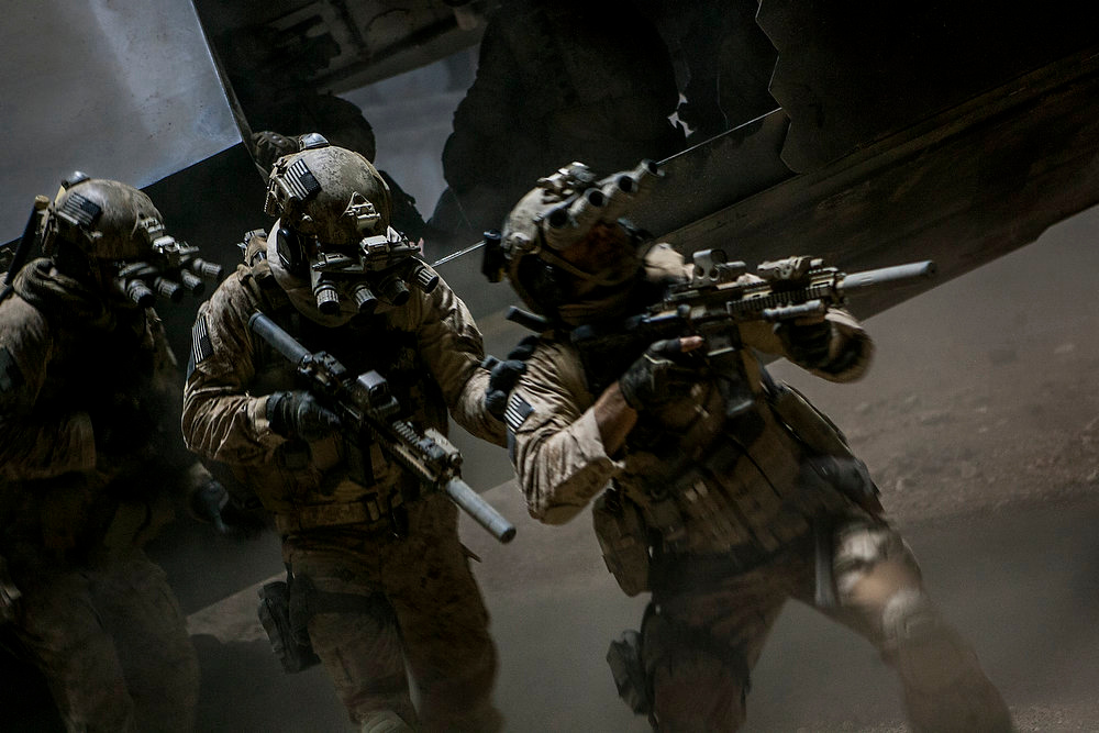 """Description of . Navy SEALs close in on Osama bin Laden in Kathryn Bigelow\'s \""""Zero Dark Thirty.\"""" Provided by Columbia Pictures."""