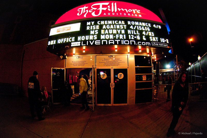 My Chemical Romance World Contamination Tour 2011 Fillmore Auditorium, Denver, CO  March 9, 2011