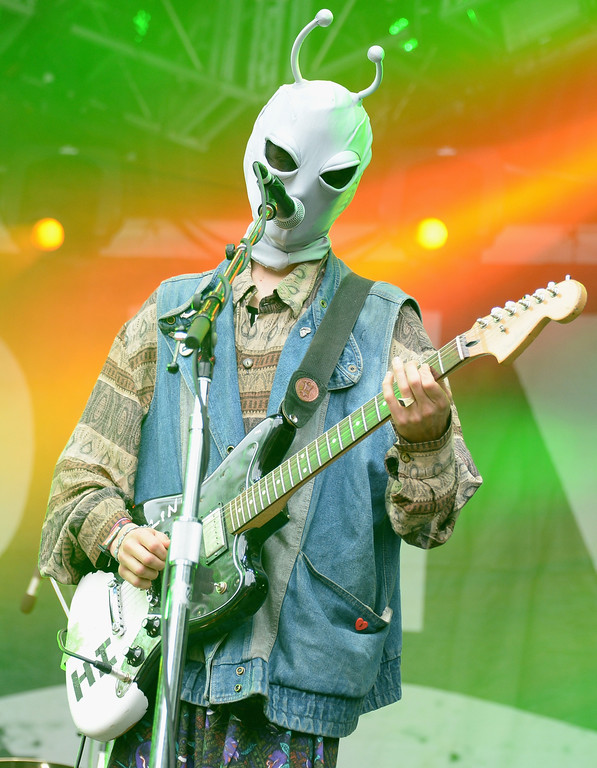 . Zachary Cole Smith of DIIV performs during Lollapalooza 2013 at Grant Park on August 4, 2013 in Chicago, Illinois.  (Photo by Theo Wargo/Getty Images)