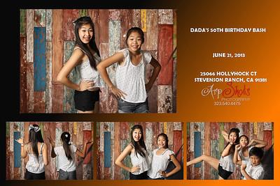 Dada's 50th Bday Bash Photobooth Prints