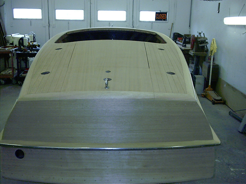 Rear view of completed rear deck.
